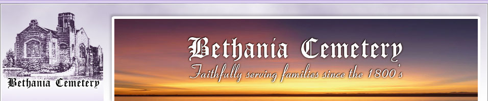 Burial Records Search | Bethania Cemetery